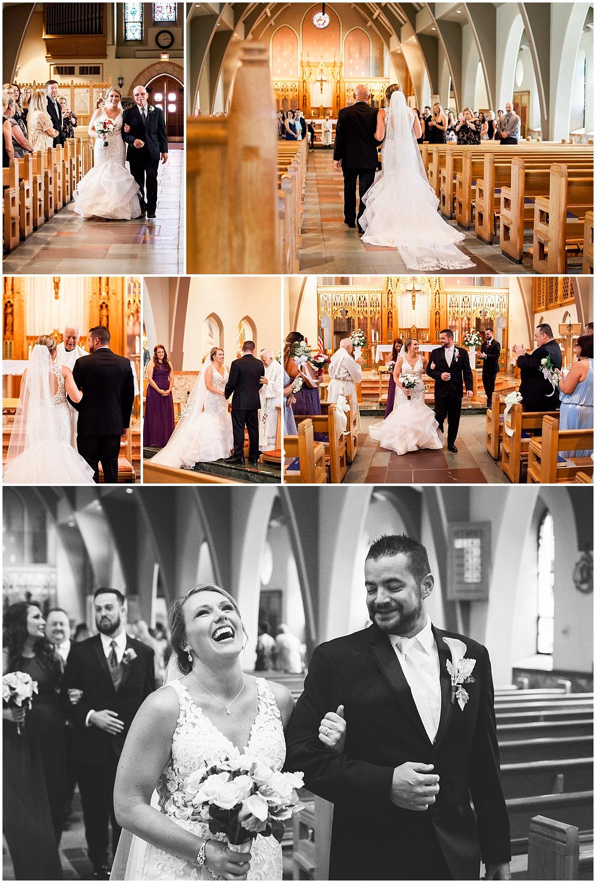 pittsburgh church wedding bride and groom