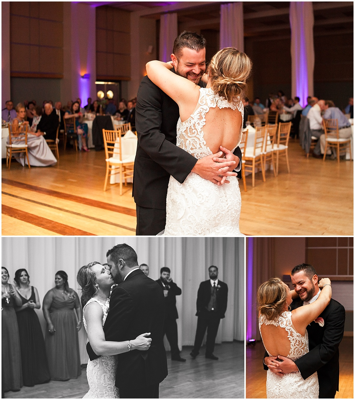 wedding reception dancing couple