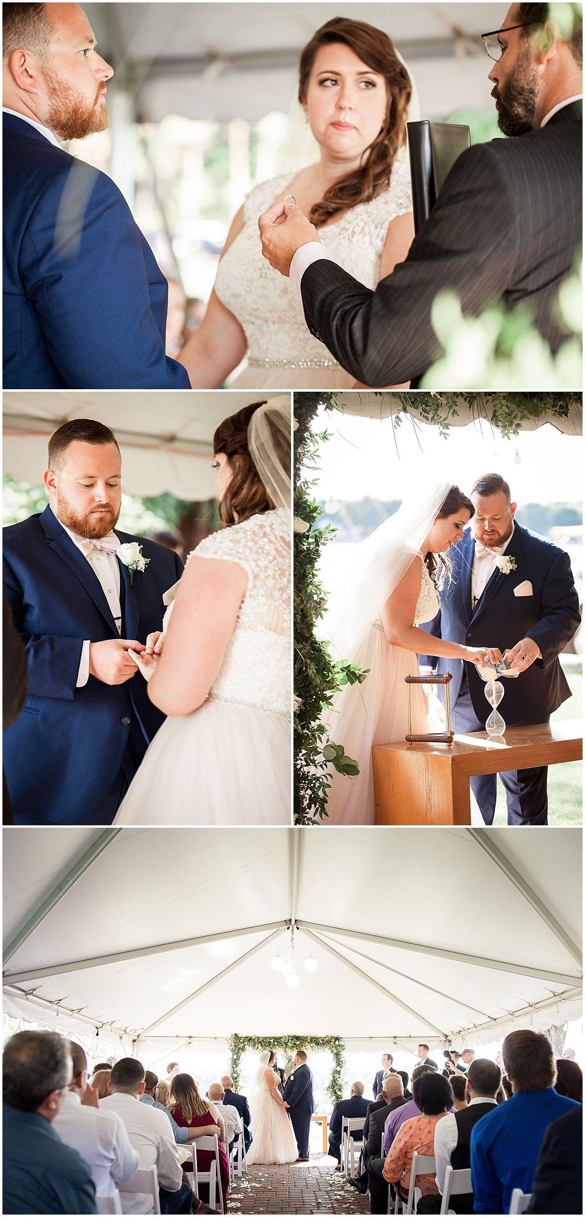 bride and groom ceremony erie pa wedding photographer