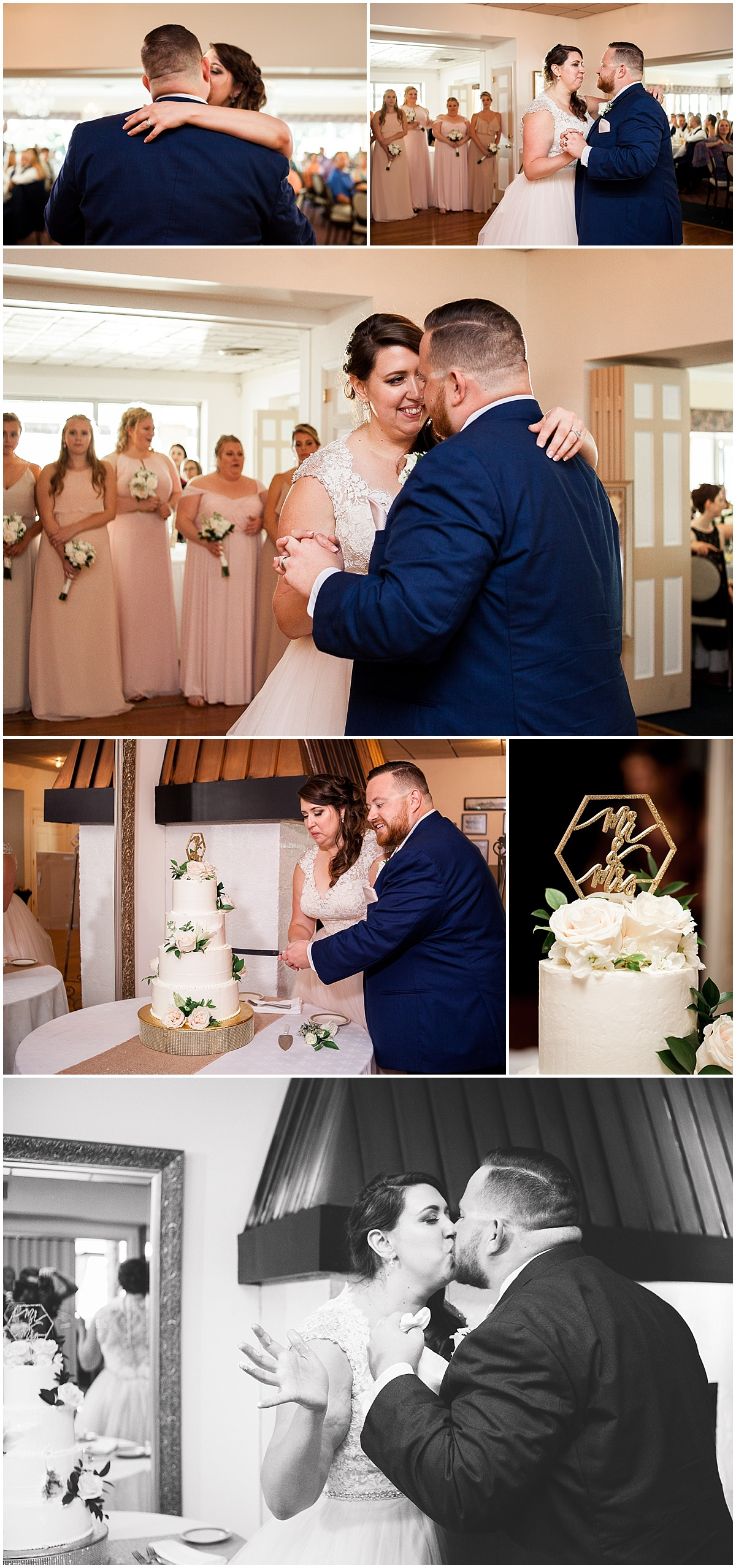 bride and groom first dance erie pa wedding photographer