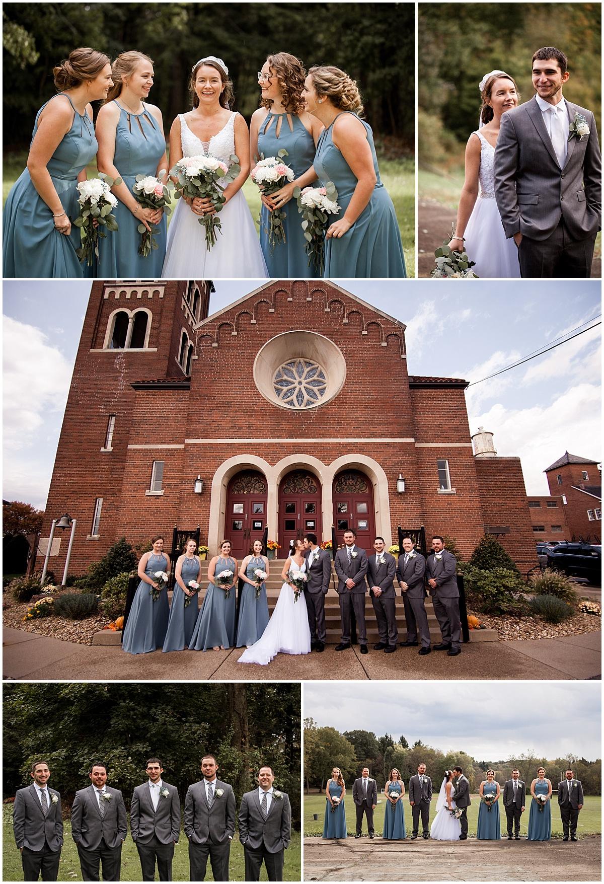 wedding party photos at st mary church herman pa