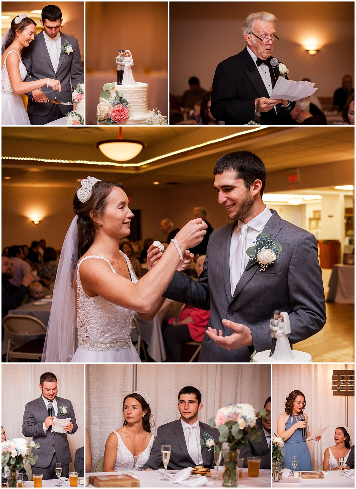 cake cutting and wedding speeches herman firehall butler pa wedding photographer