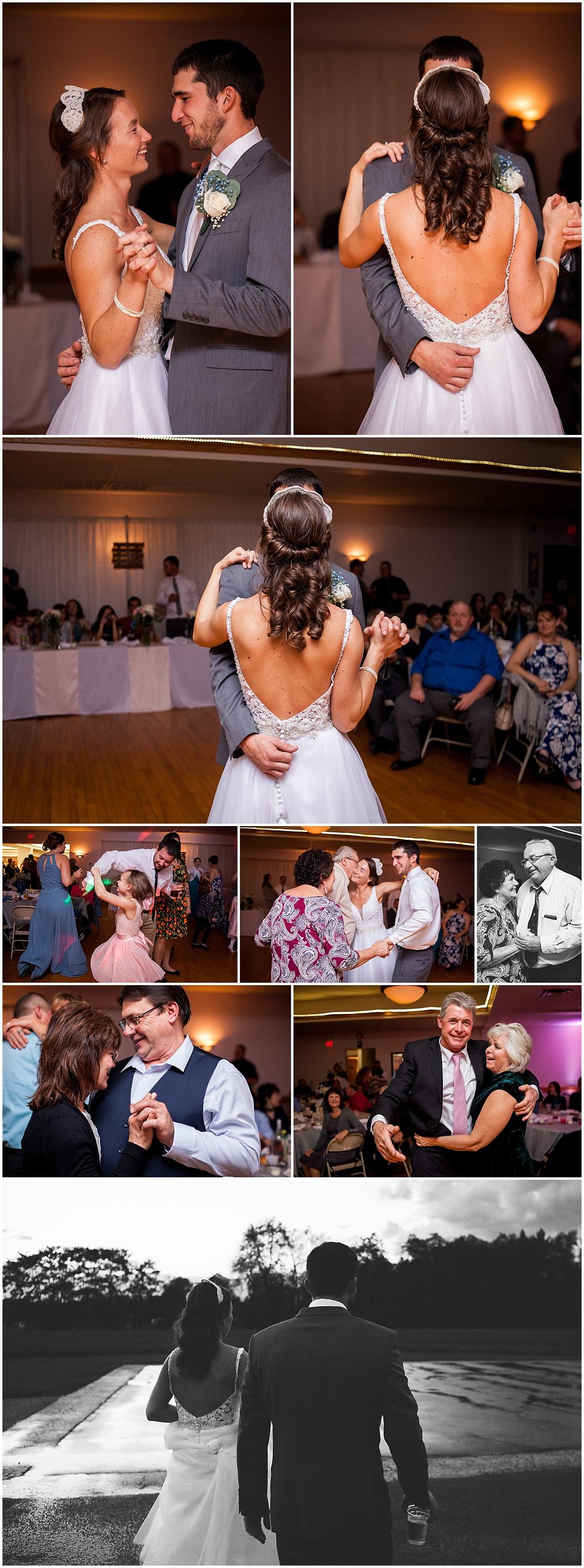 first dance and reception dancing herman firehall butler pa wedding photographer