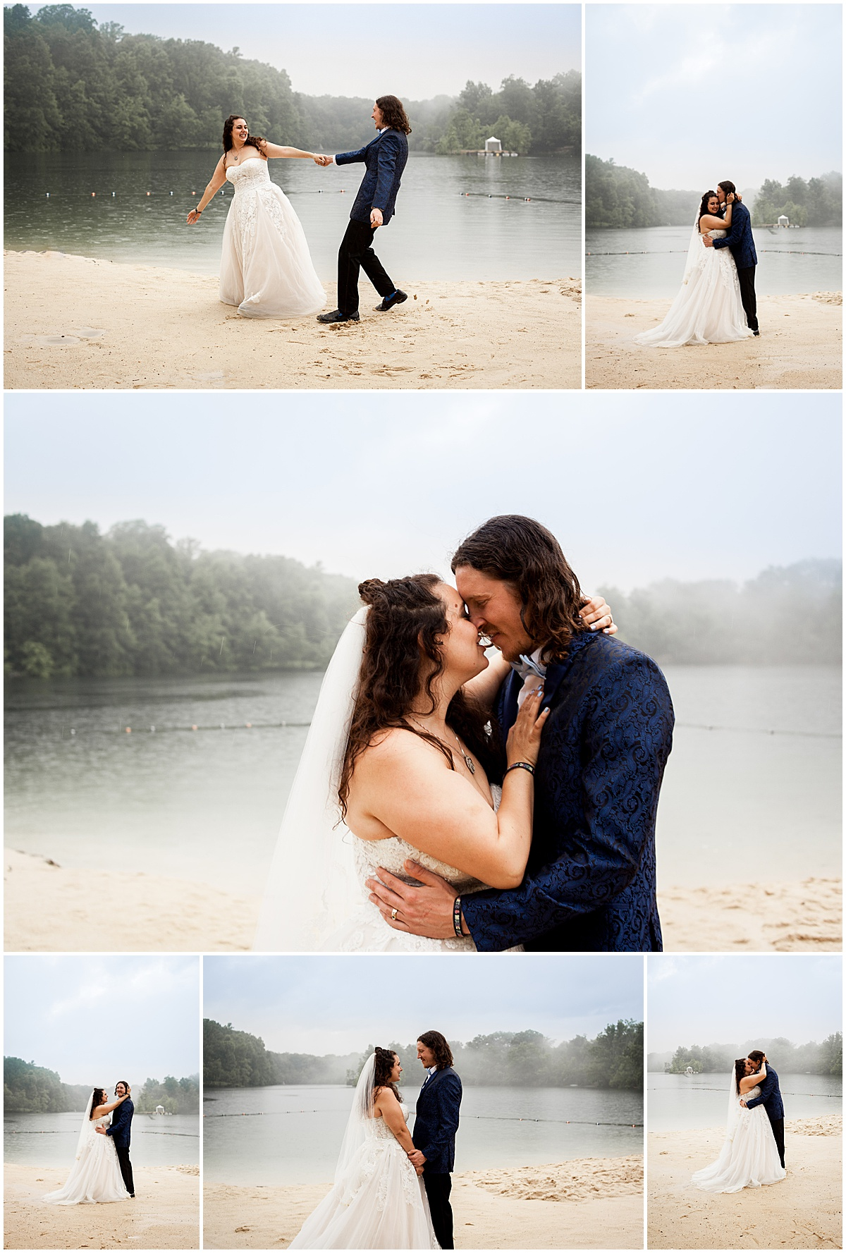 bride and groom festival wedding at nelson ledges