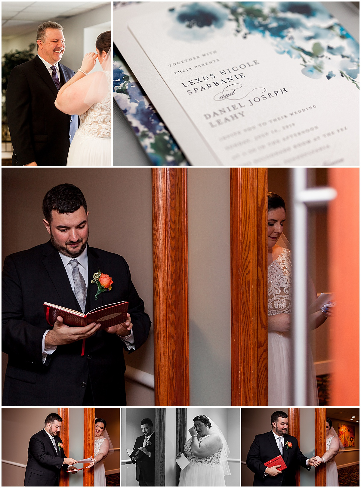 lexus and dan share letters for wedding liz capuano photography