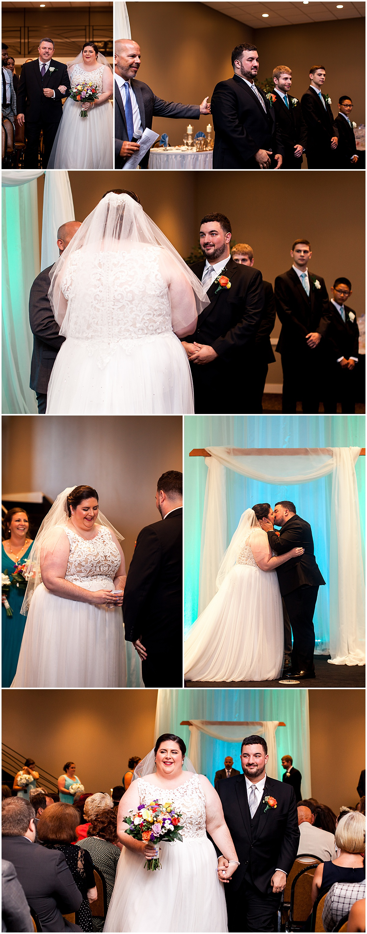 lexus and dan wedding ceremony at the fez liz capuano photography