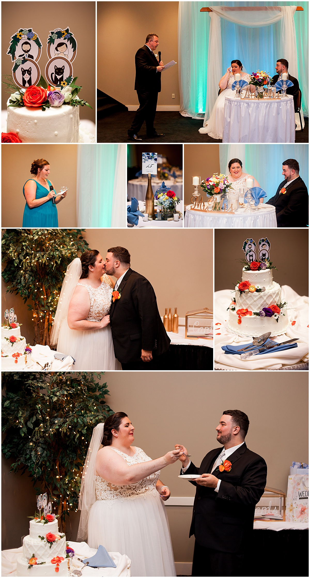 lexus and dan cutting cake at the fez liz capuano photography