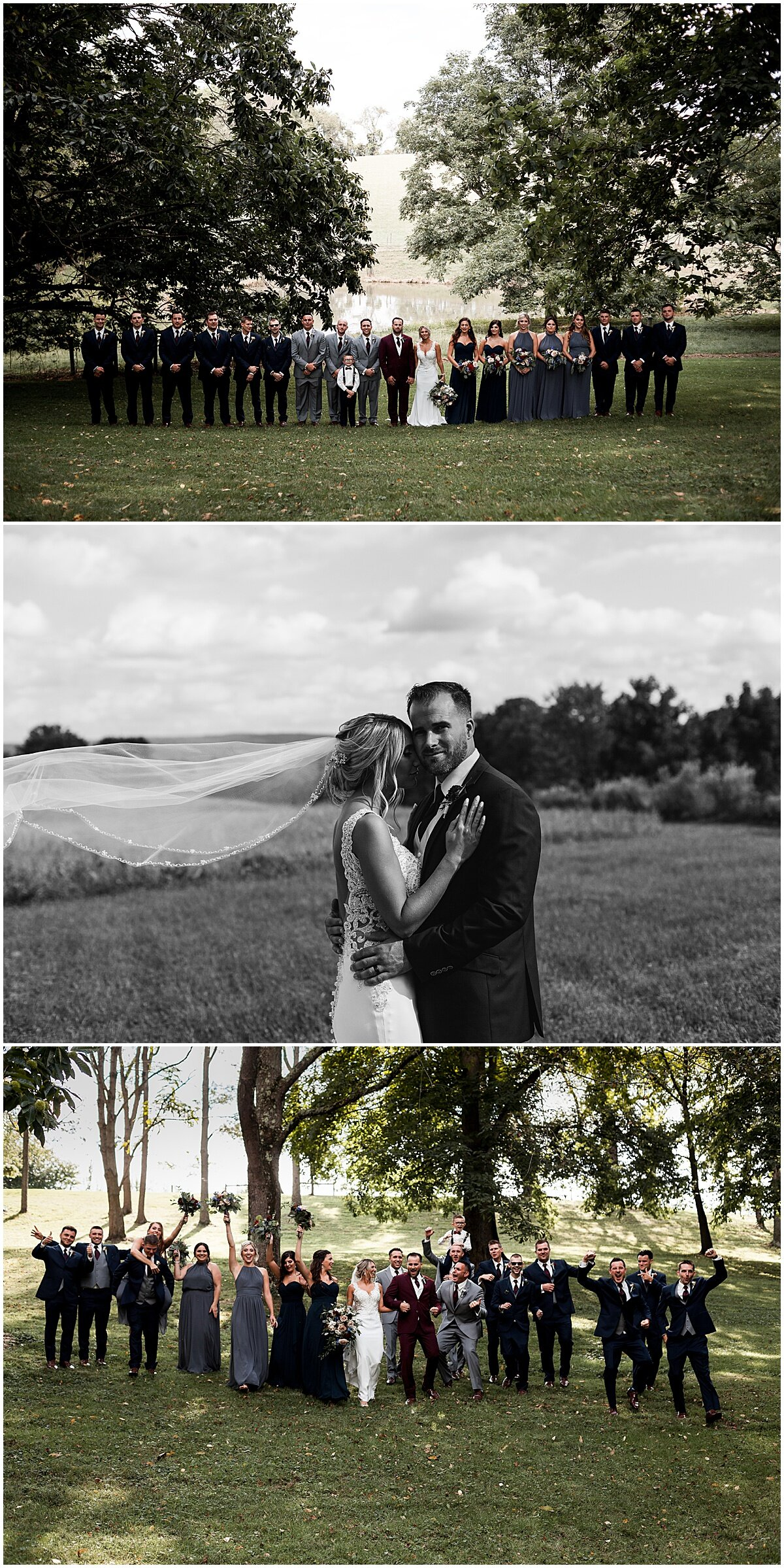 wedding party at greendance winery mount pleasant pa liz capuano photography