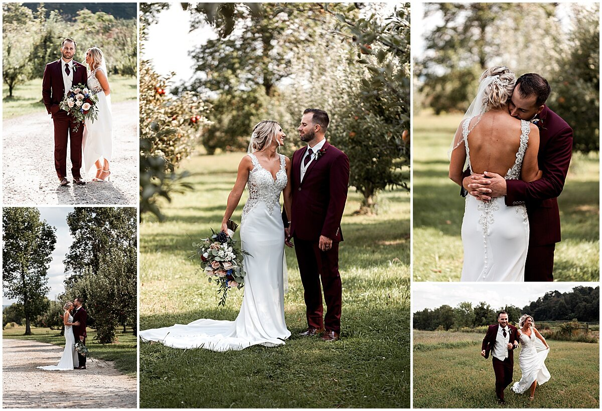 wedding couple at greendance winery mount pleasant pa liz capuano photography