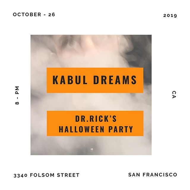 We will be playing at Dr.Rick's Halloween Party at Folsom street in #SanFrancisco, #California