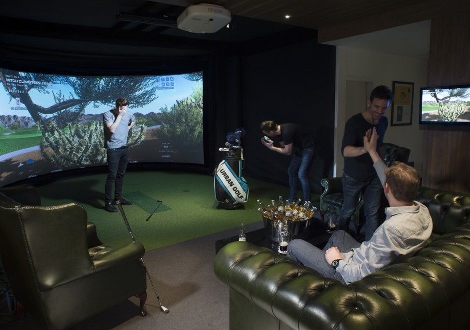 Enjoy all the comforts of a club smoking room (without the smoke) and all the golf.