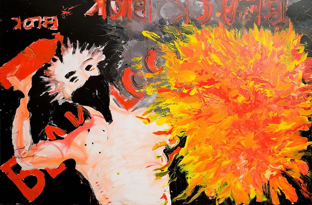 """La nostra opera - """"Black Bloc"""" - Acrilico su tela - 120 x 100"""