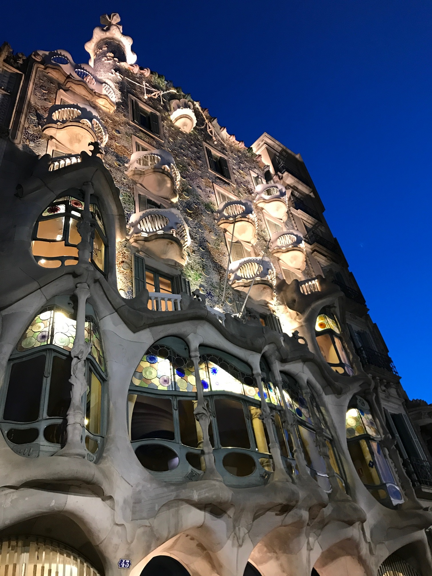 Gaudi's Casa Batlló at night