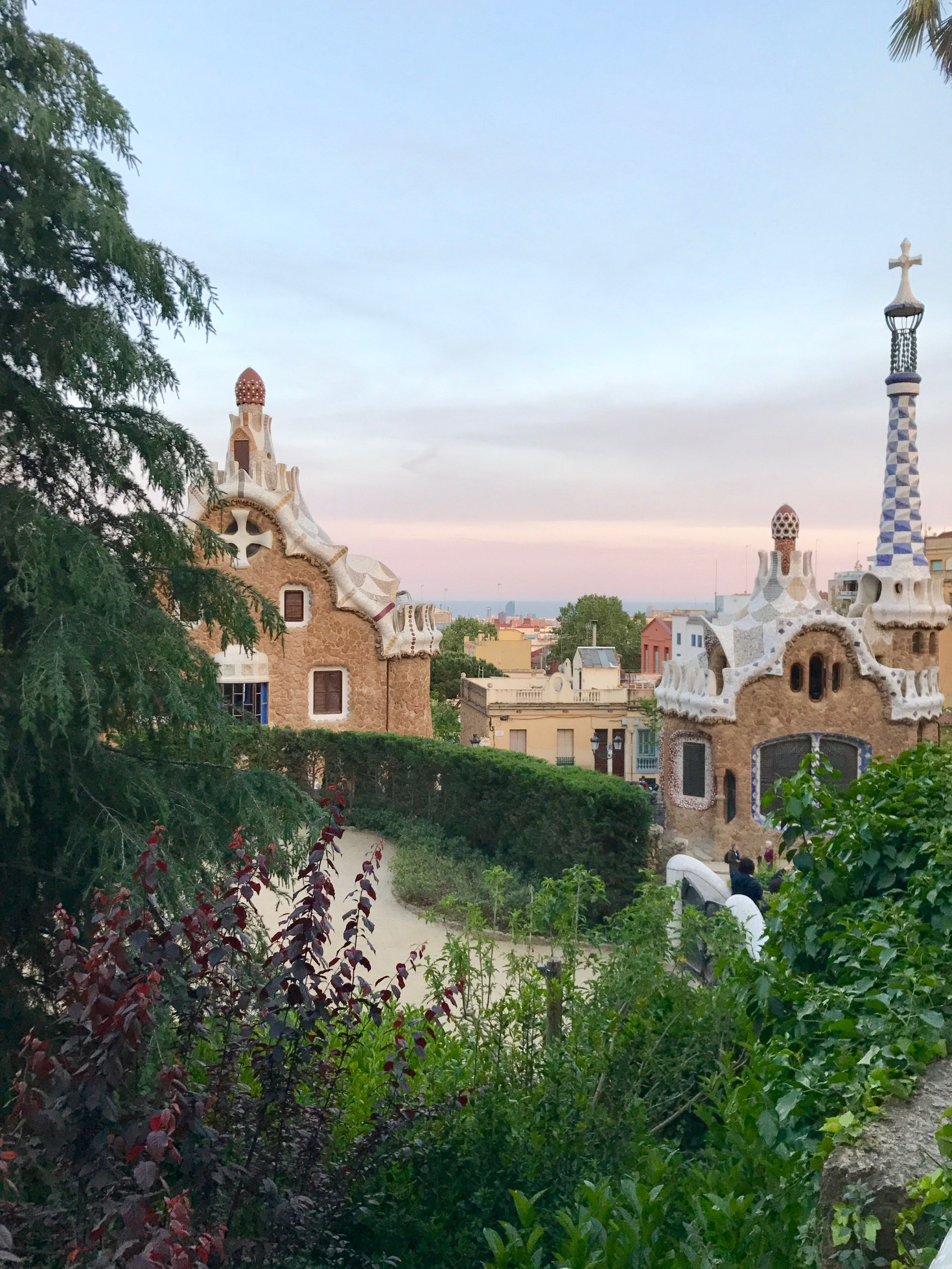 Park Güell at sunset