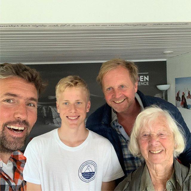 Utrolig kjekt å få besøk av Bjørn Kjærand Haugland, junior Brede Tolo Haugland og mor selv. #daleoenexperience #norway203040 #collaboration #youthpower #sustainability #norway