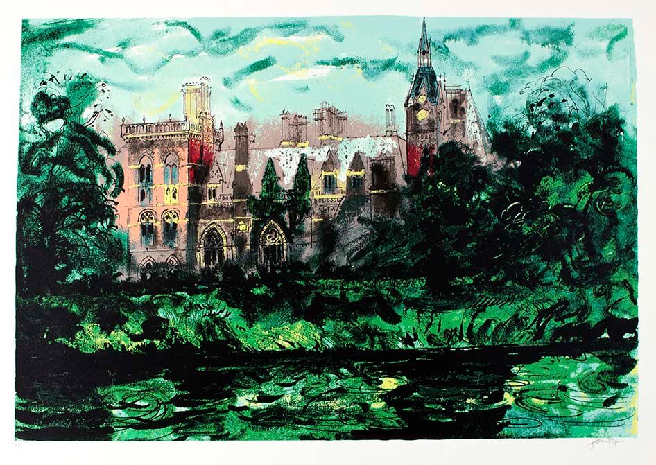 John Piper (1903-1992), Kelham Hall from Victorian Dream Palaces, circa 1977 signed, artist's proof/screenprint - est £600 – 800