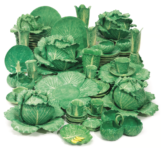 In 2015 Sotheby's sold this 57-piece Lettuce Ware dinner service by Dodie Thayer for over £21,000!.