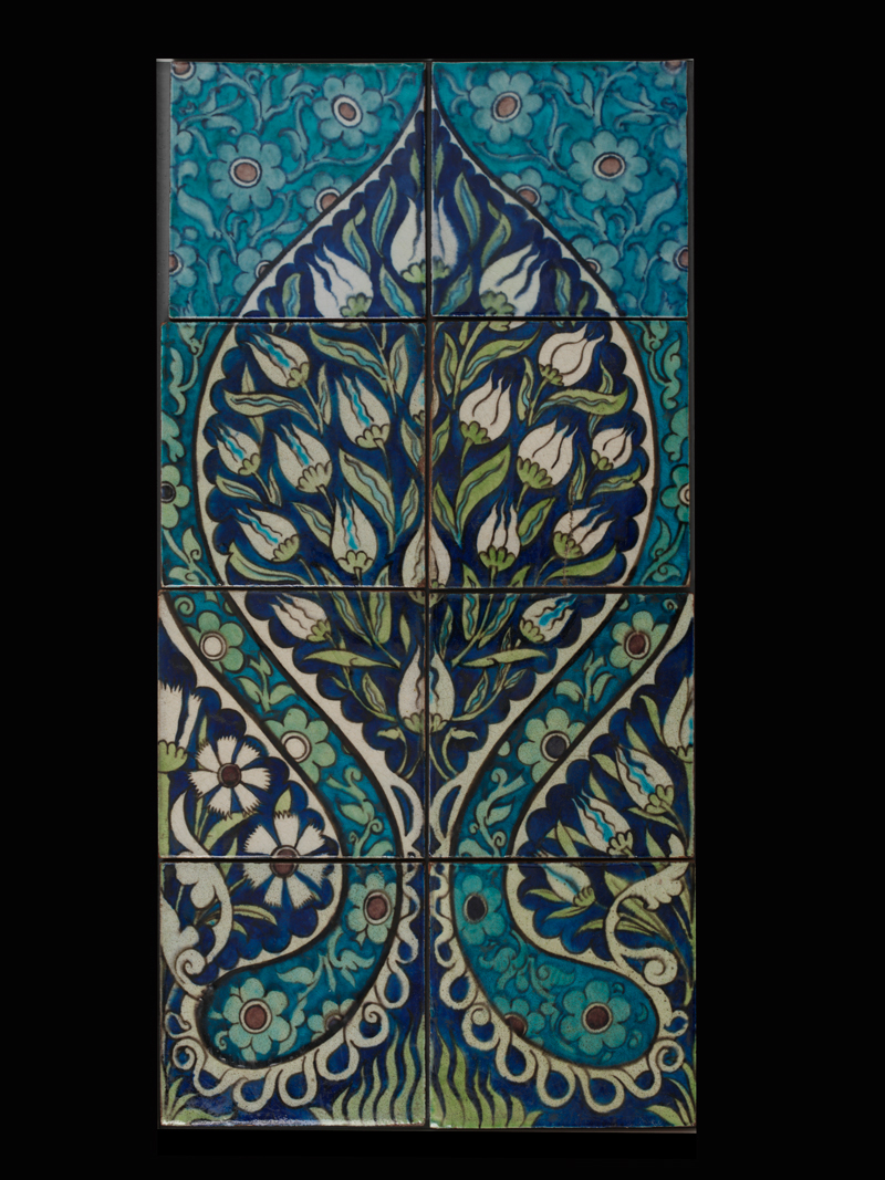 Painted earthenware tile panel for the saloon on Sutlej by William de Morgan, UK, c. 1882 ©Victoria and Albert Museum, London.