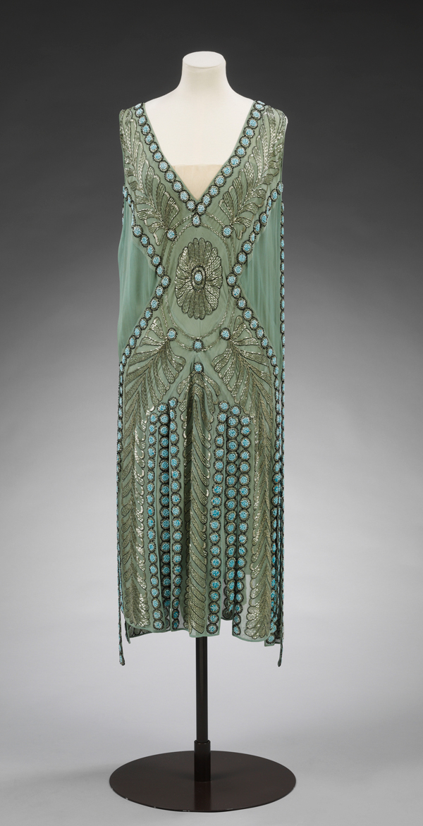 Silk georgette and beaded 'Salambo' dress by Jeanne Lanvin, Paris. ©Victoria and Albert Museum, London