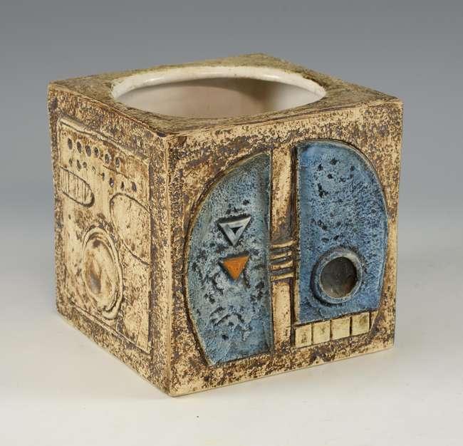 Cornish Troika cube form vase estimated at £100-150