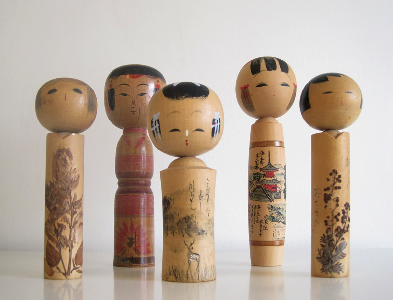 These Kokeshi dolls date from the 1920s