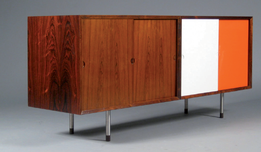 1950s lacquered rosewood sideboard by   Poul Cadovius for Cado