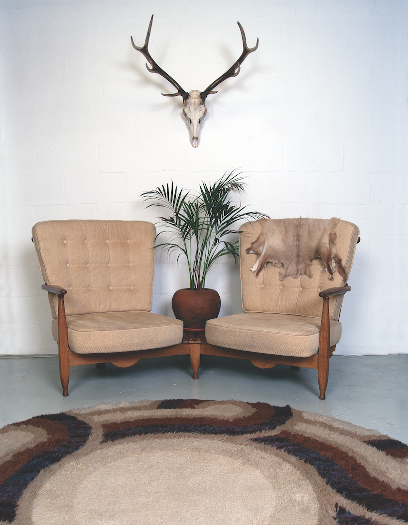 1950s French Sofa Chairs by Guillerme et Chambron for Votre Maison available from  www.molecula.co.uk
