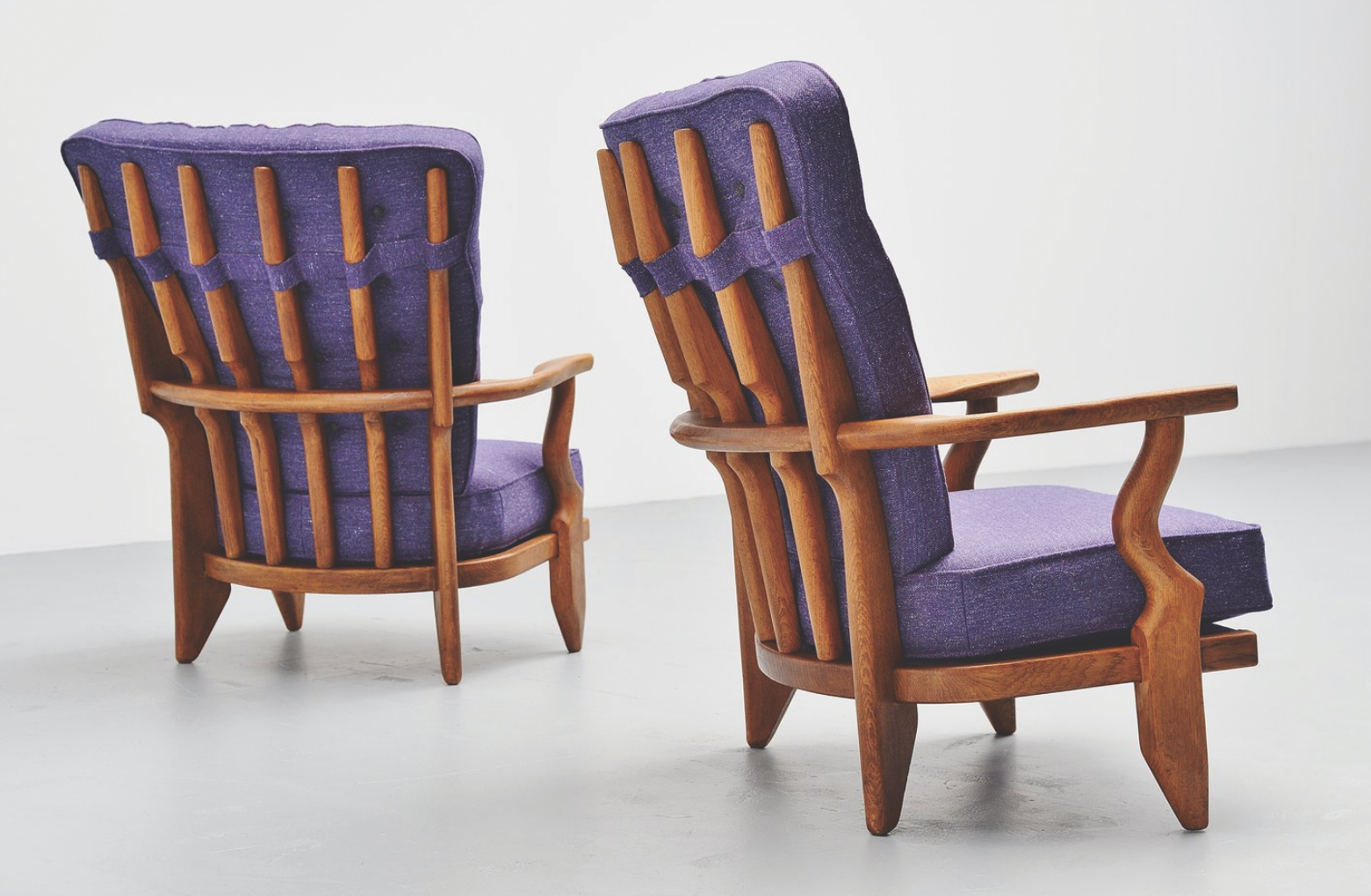 Pair of lounge chairs from1955, with a solid oak ribcage frame. Newly upholstered to match the original design. Price: 4,500 euros  www.massmoderndesign.com