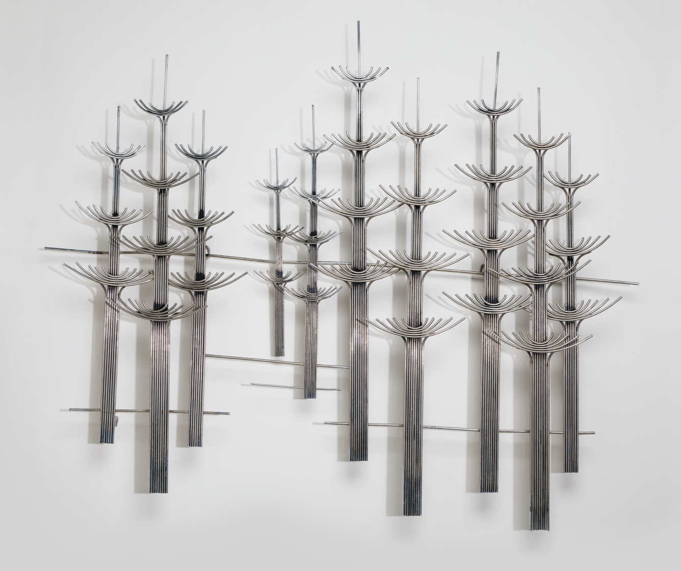 Forest. A large metal sculpture from 1977 signed Curtis Jeré. Width: 135cm.  Price: £3,600 Available from Talisman