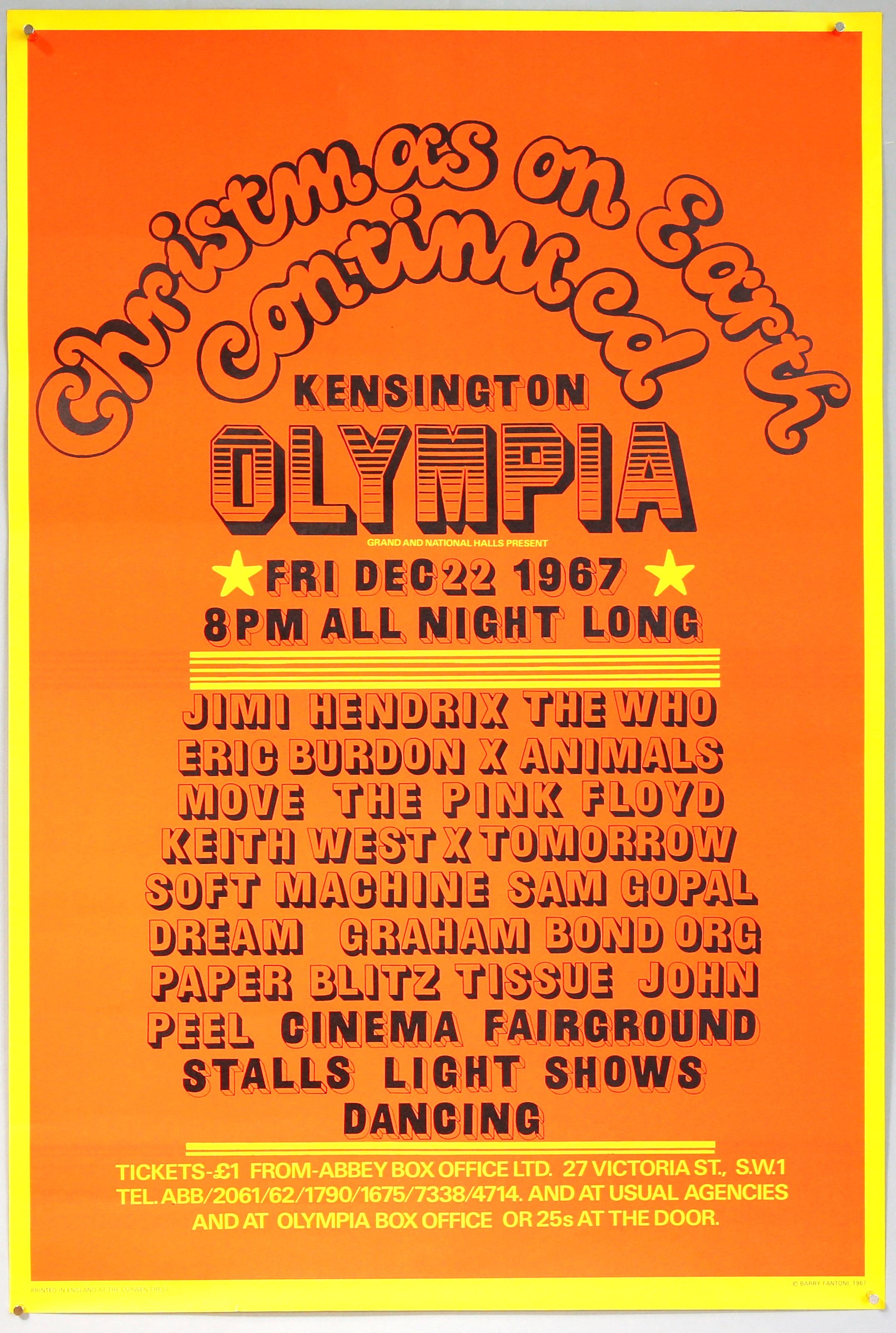 Hendrix poster – estimate £1500-2500