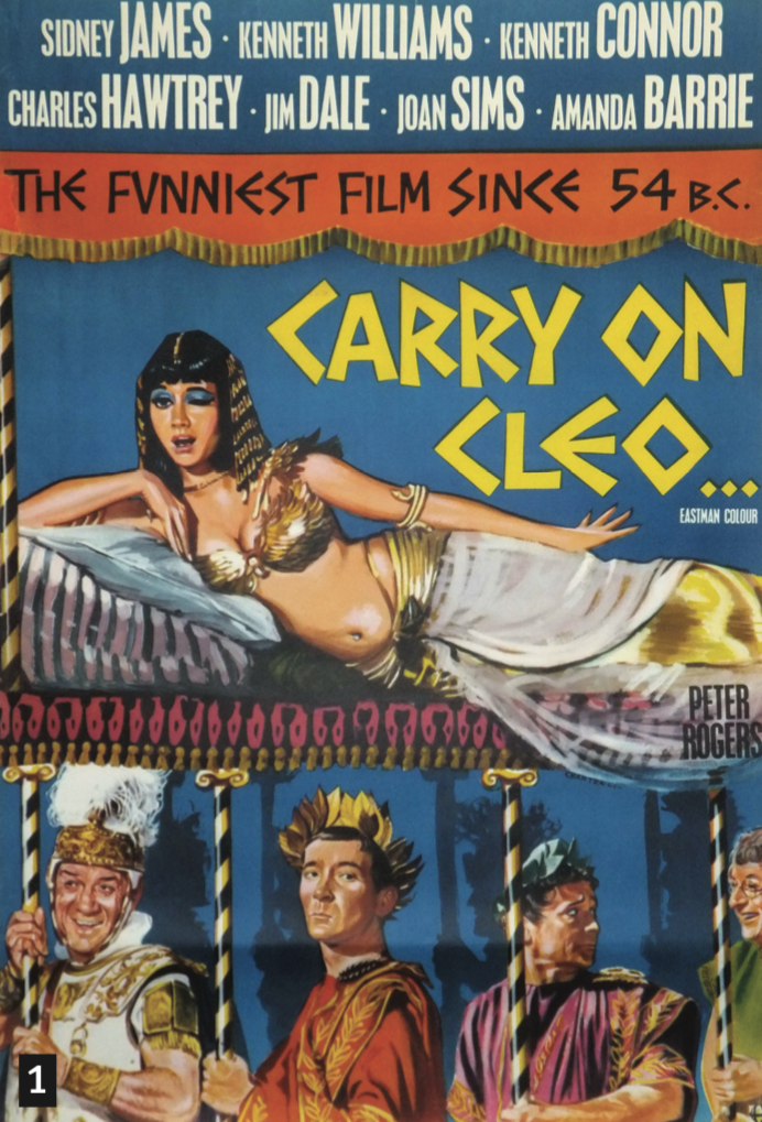 1. Carry On Cleo  One-sheet, 1964, £595