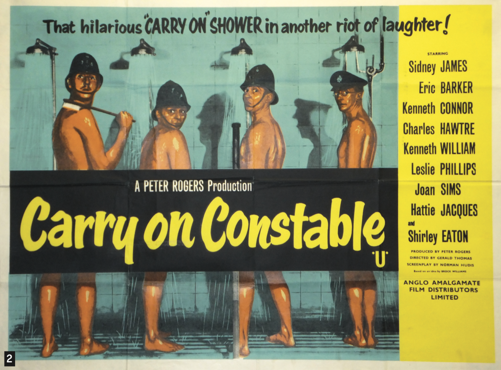 2. Carry On Constable  Quad poster, 1960, £275