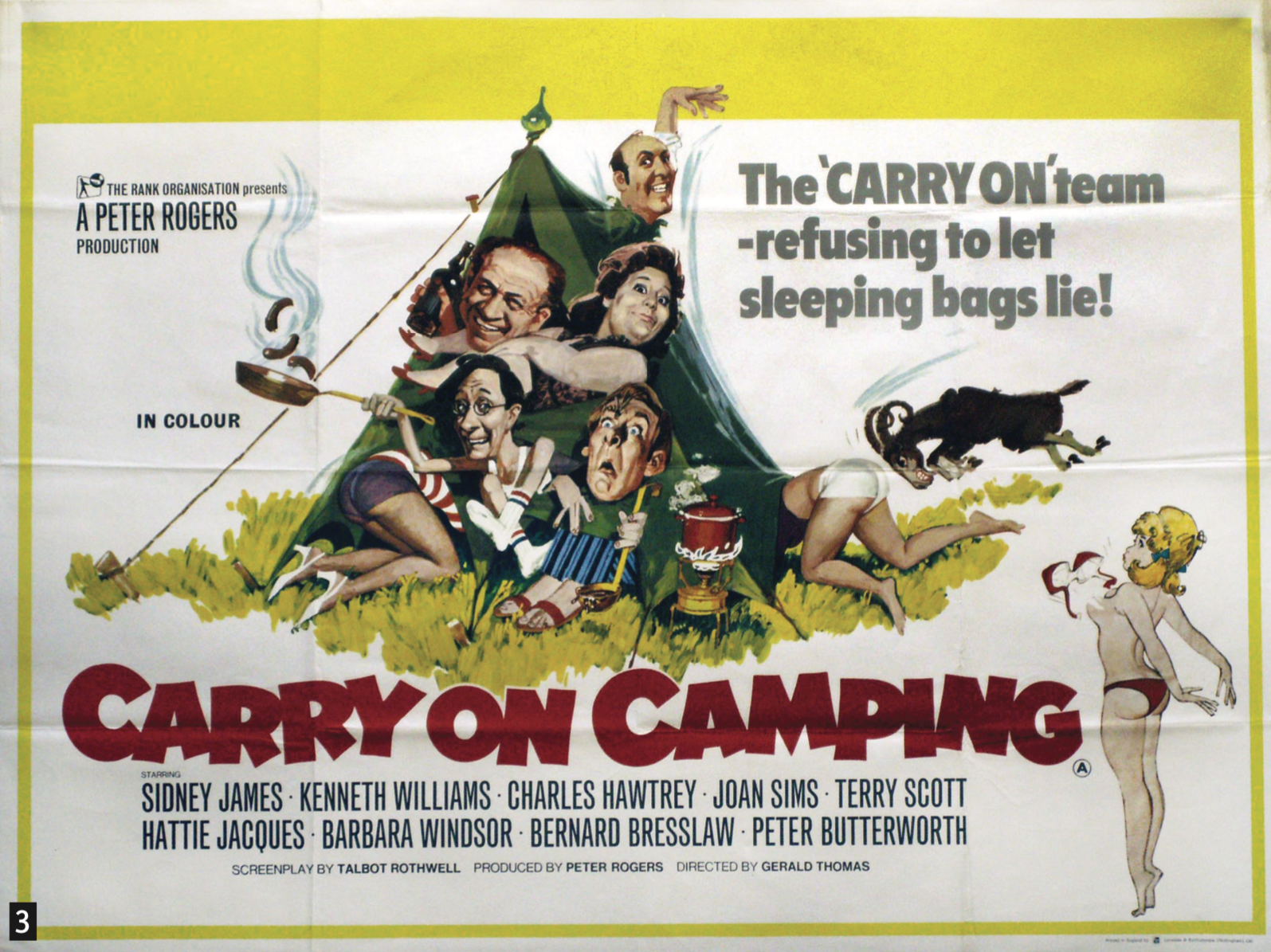 3. Carry On Camping  Quad poster, 1969, £380