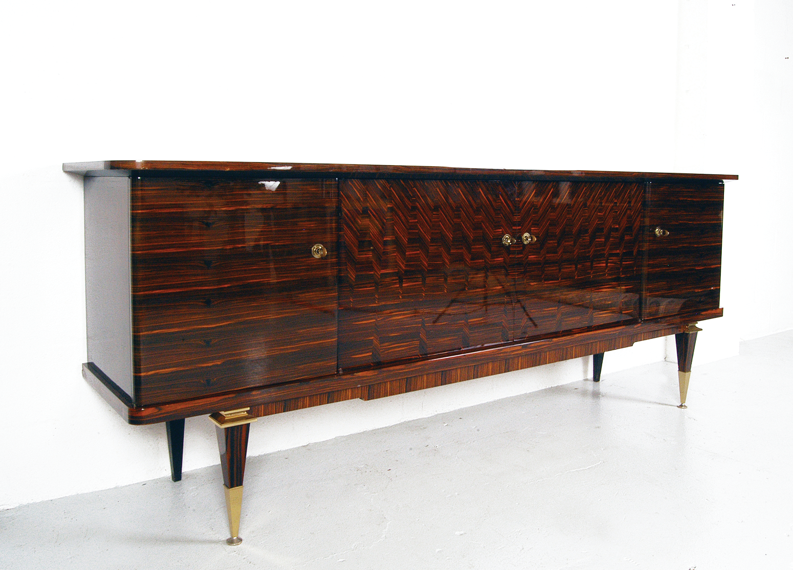 Left: Late 1930s French Macassar Ebony sideboard, with the most striking grain pattern. Price: £5,300. Available from    molecula.co.uk