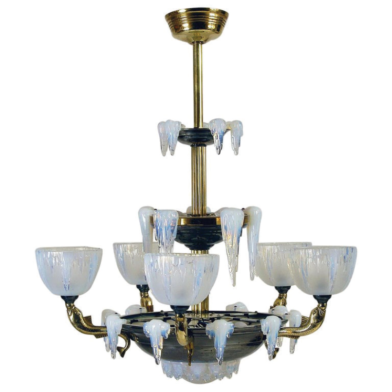 Opalescent Ceiling Light