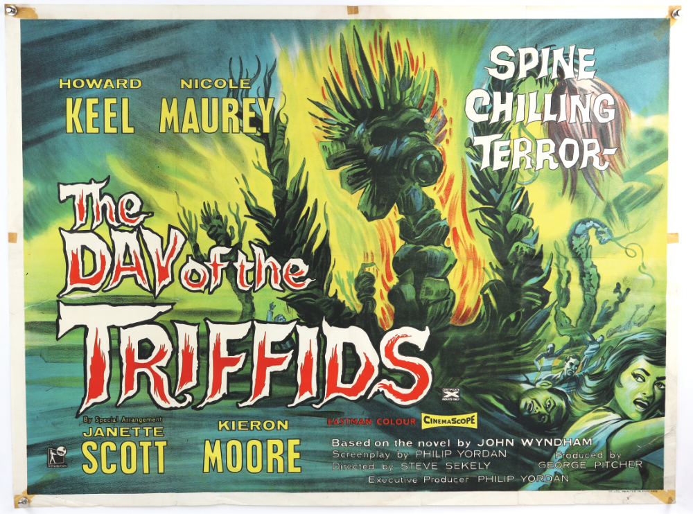 VE Auction News - Day of the Triffids Poster up for sale at Ewbank's