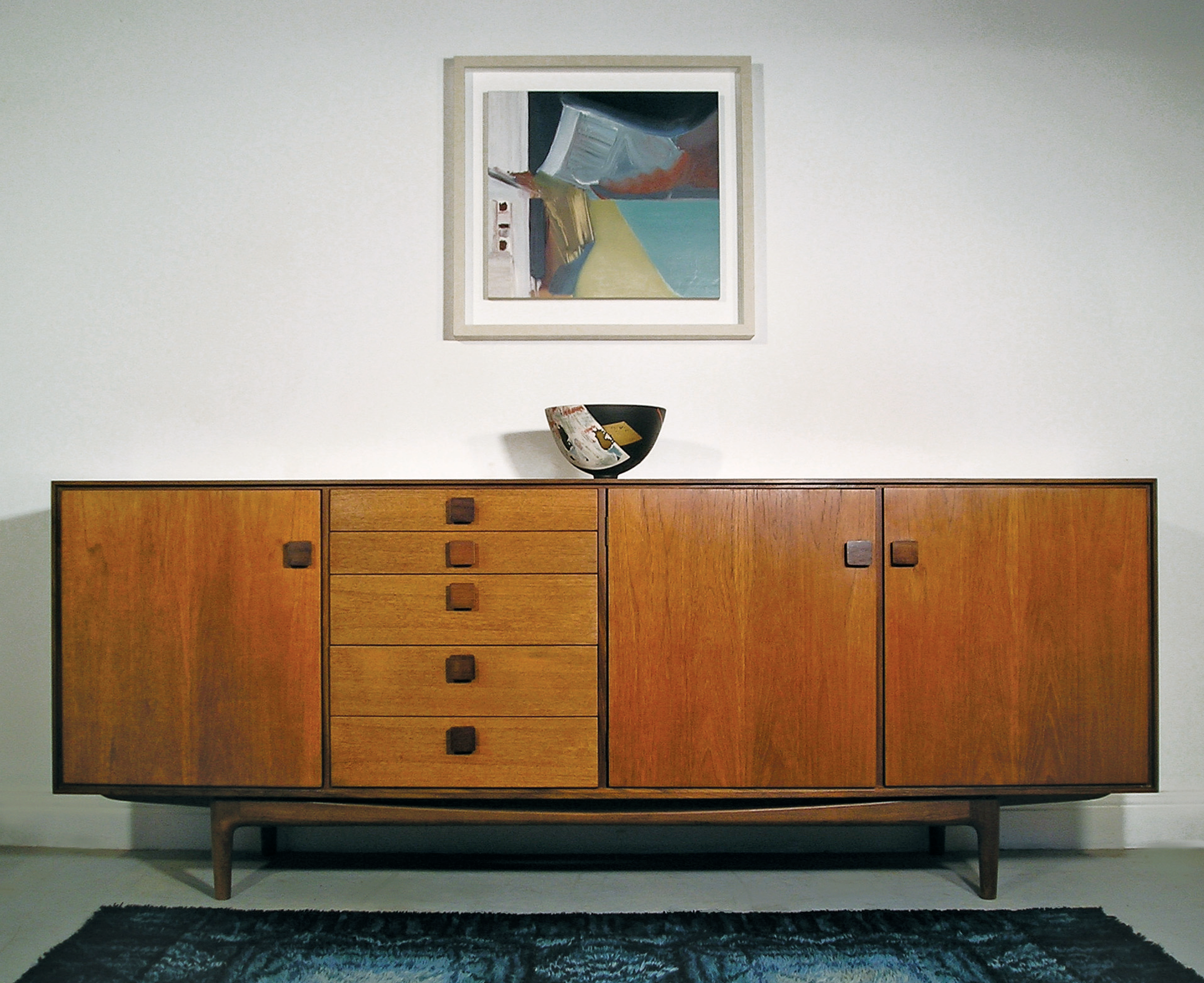 This incredibly stylish sideboard was designed by Kofod Larsen for the Danish Range which was launched in 1962