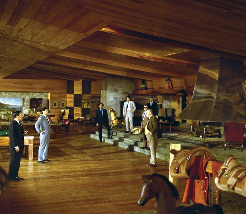 Ken Adam's Goldfinger Rumpus Room design