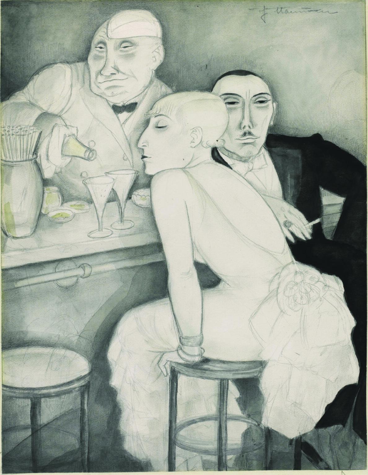 Jeanne Mammen Bar, c.1930, Ömer Koç Collection ©DACS, 2019