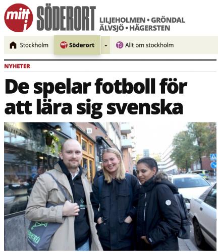 Saba, Sofia och Ville i Mitt i Söderort den 10/10-2018
