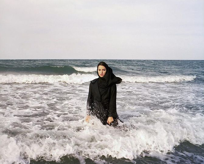 Fig. 3. Newsha Tavakolian, Imaginary CD for Sahar. Caspian Sea, 2011