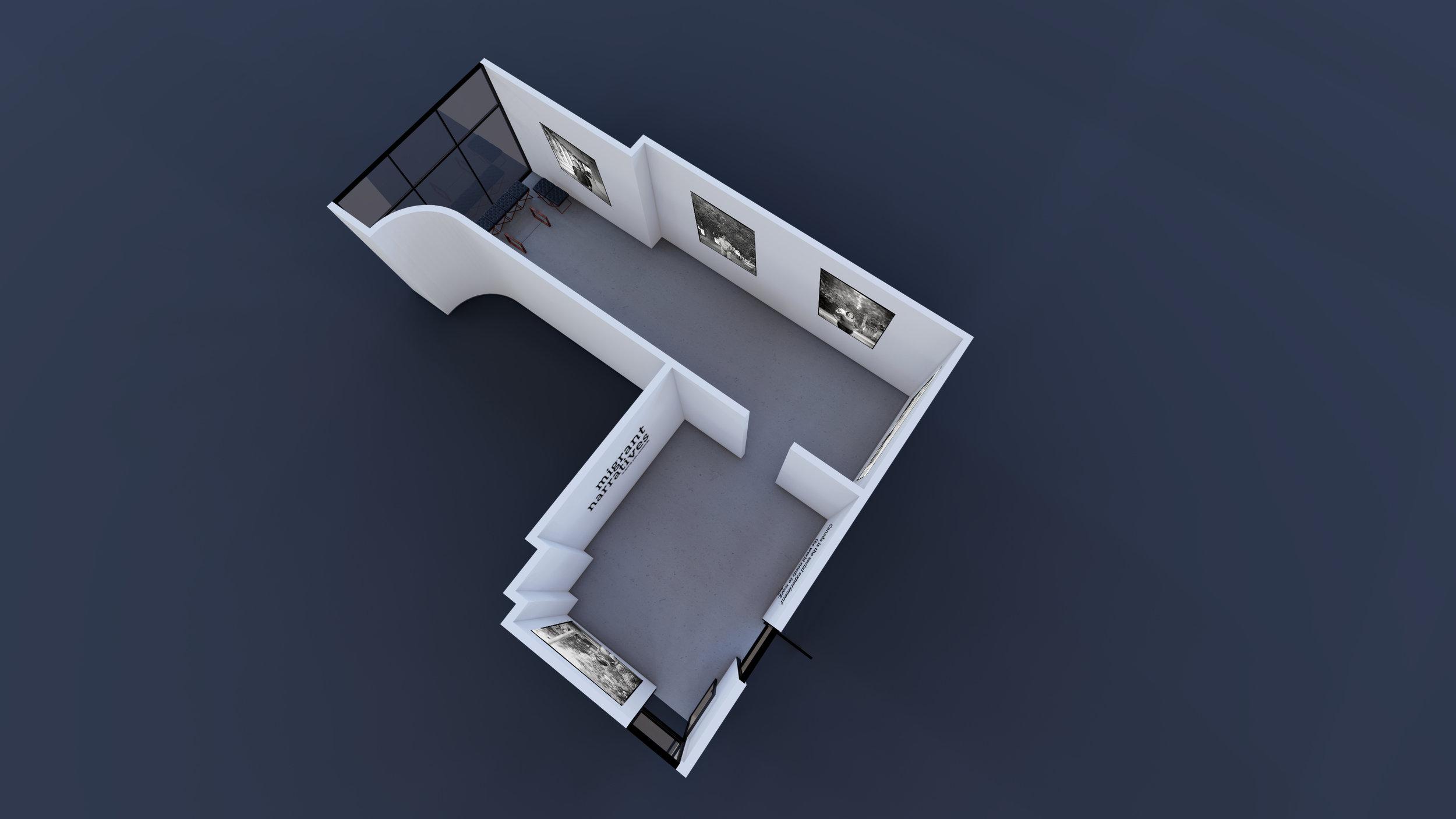 Figure 7: Studio Sixty Six Floor Plan 3D Render (Machinski, 2019)