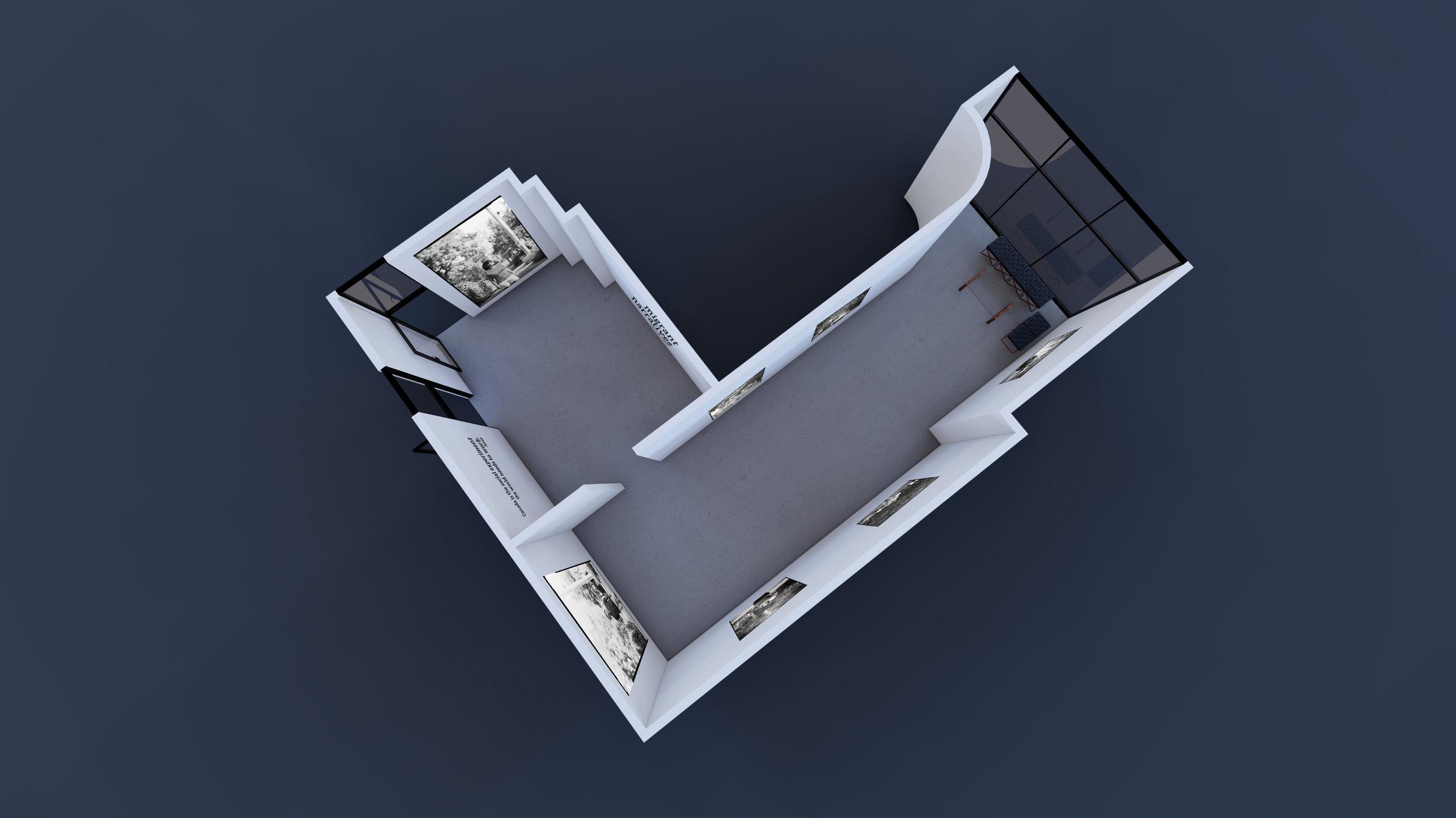 Figure 6: Studio Sixty Six Floor Plan 3D Render (Machinski, 2019)