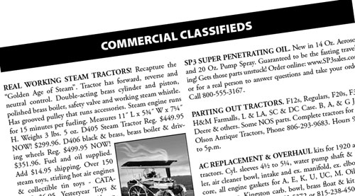 Commercial Classified ads