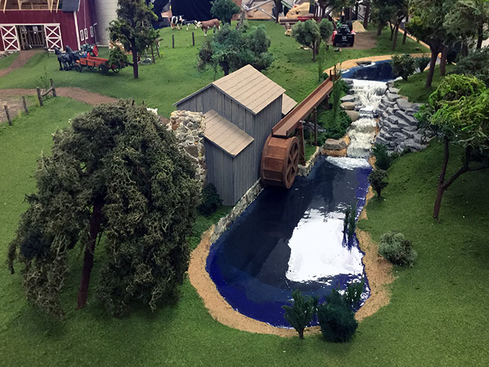 Water wheel section of Brad Baird's beautiful layout