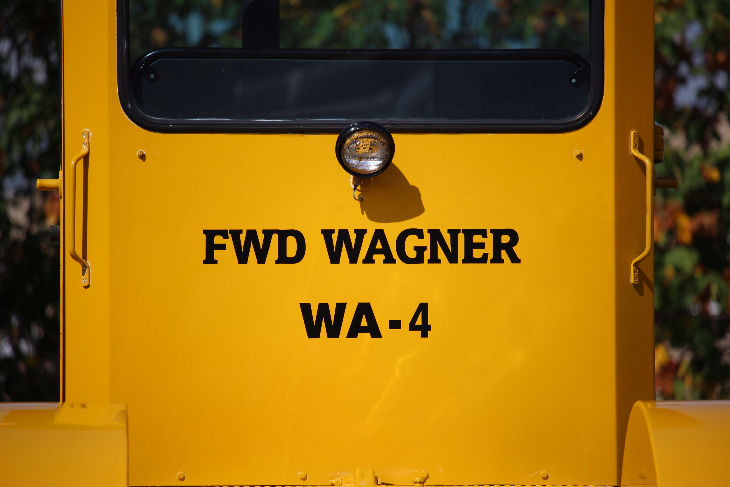 These vinyl decals look perfect on this rare Wagner tractor.