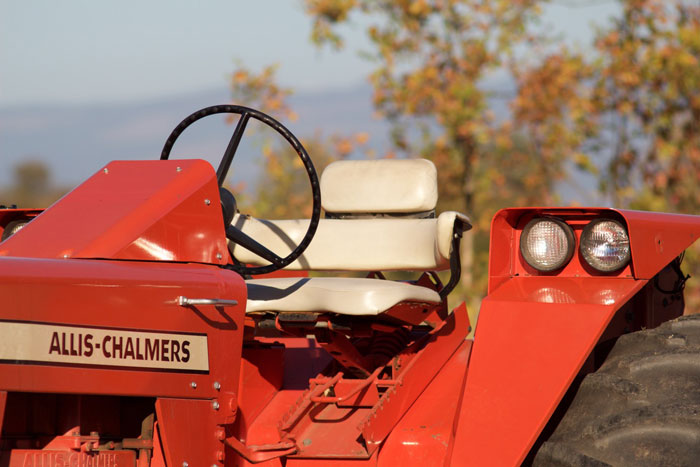 Our  July/August 2016  issue featured this 1969 Allis-Chalmers 220 with a padded seat with support on the back and sides.
