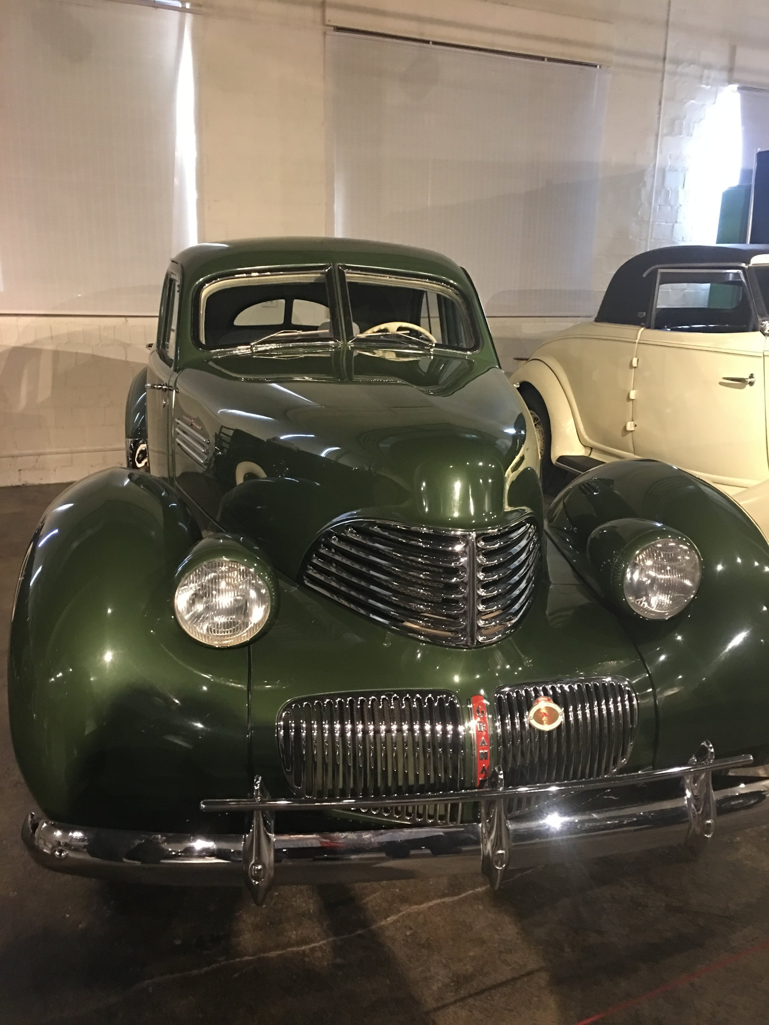 This Graham car was on display in the Special Interest gallery at the Auburn Cord Duesenberg Automobile Museum in Auburn, Indiana.