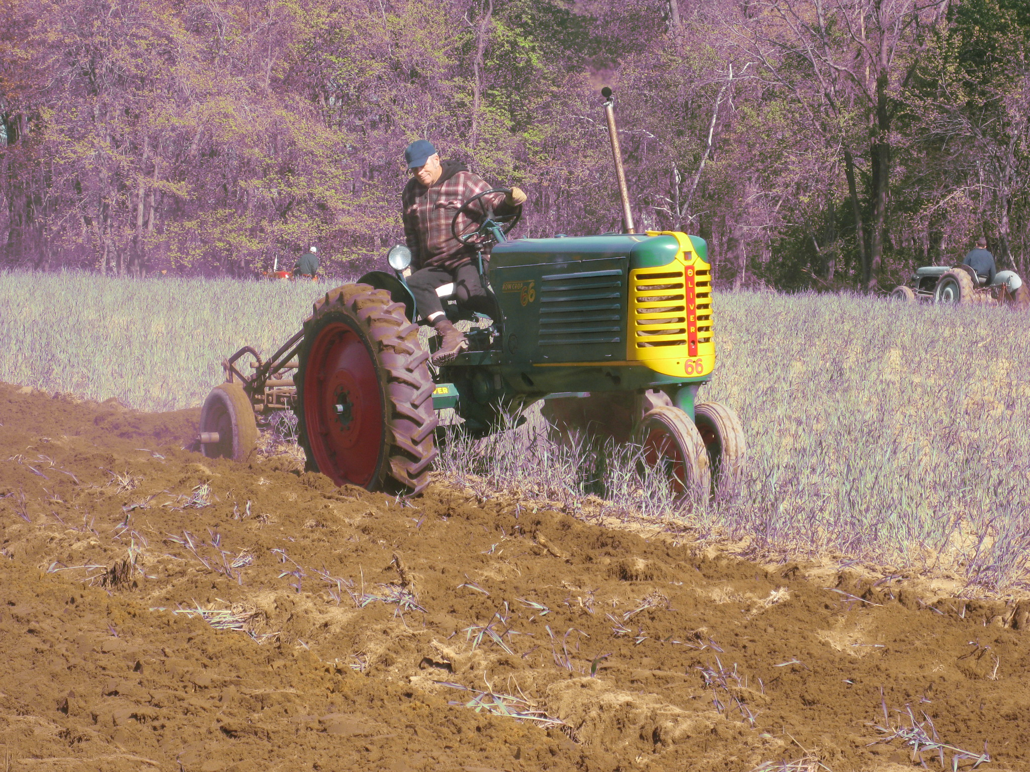 Although there is plenty of plowing at one of the Scantic Valley Antique Engine & Tractor Club's plow days, there is a lot of socializing, too.  Photo Scantic Valley Antique Engine & Tractor Club