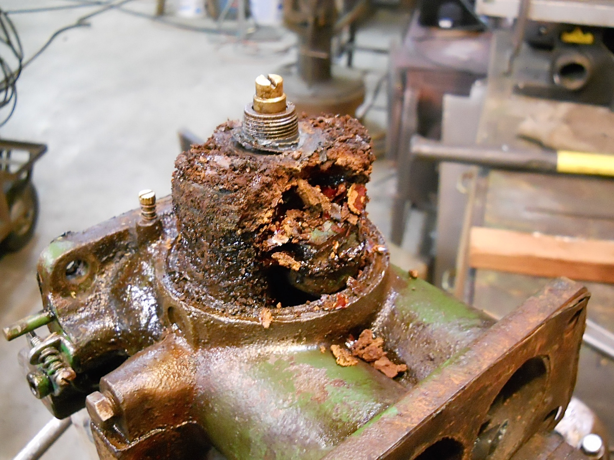 Rust seriously damaged this carburetor.  (Photo by Fred Moses)